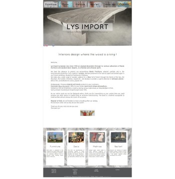 weblandes web agency / Lys import / (Pouldreuzic - FRANCE)