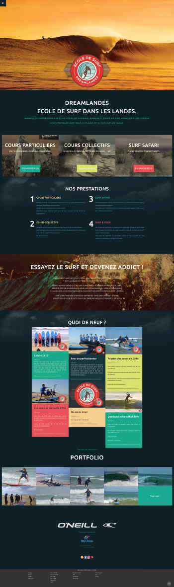 weblandes web agency / Dreamlandes surfschool / (Vieux boucau - FRANCE)