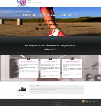 weblandes web agency / FitCoach.fr / (Pouldreuzic - FRANCE)
